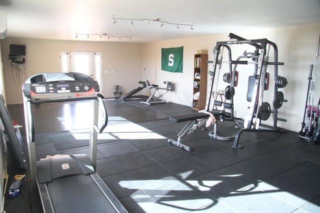 Home Gym Flooring Modern