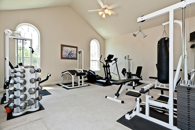 Home gym design  Home Gym - Traditional - Home Gym - Dallas - by James Hurt