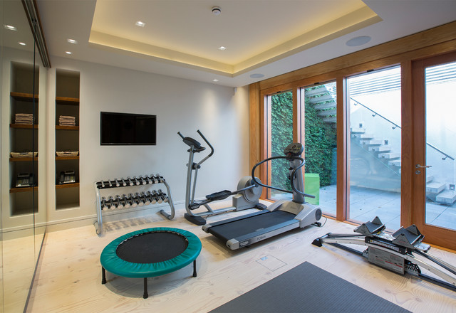 Home gym contemporary london by folio