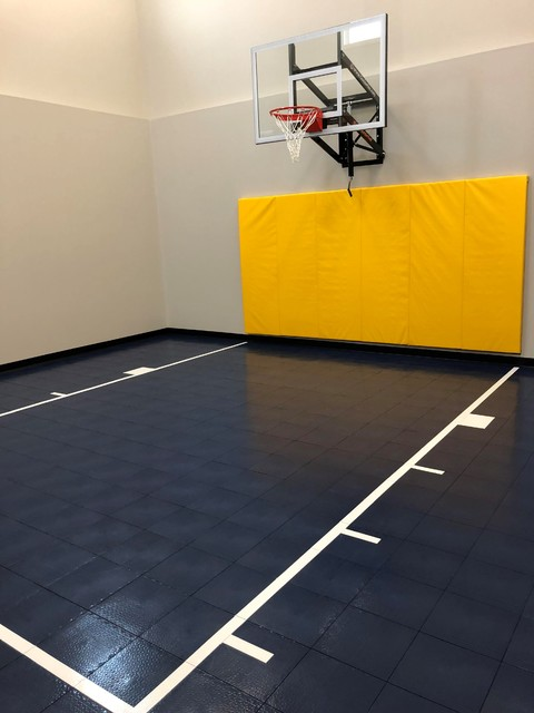 Indoor Basketball Court - Traditional - Home Gym - Minneapolis - by