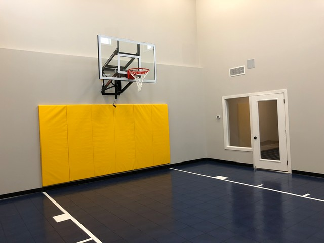 Indoor Basketball Court Traditional Home Gym Minneapolis By Millz House Houzz Uk