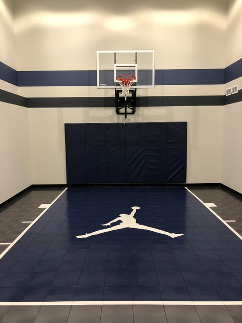 Indoor Basketball Court Plymouth Traditional Home Gym Minneapolis By Millz House Houzz Uk