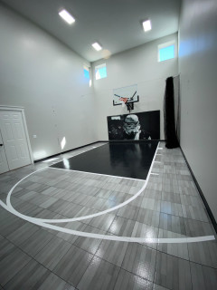 Indoor Basketball Court Prior Lake American Traditional Home Gym Minneapolis By Millz House