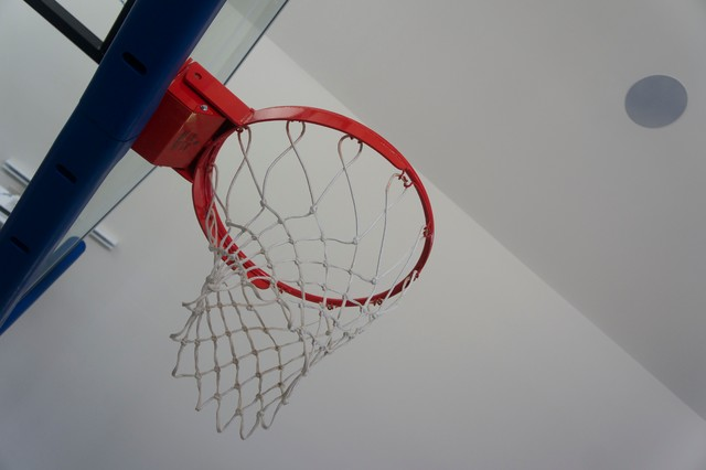 Indoor basketball court with audio video installation for Indoor basketball court installation