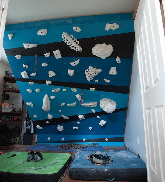 Indoor climbing wall modern home gym hawaii