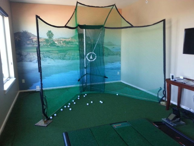 Indoor Golf Greens - Eclectic - Home Gym - Denver - by Greens With ...