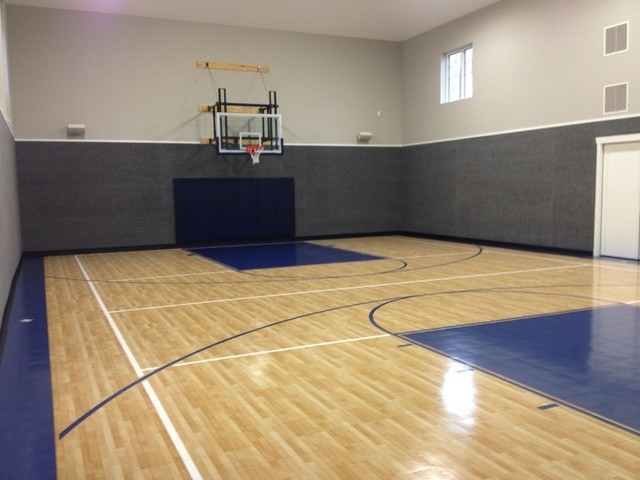 Indoor Home Gymnasiums Traditional Home Gym Cleveland By Sport Court Ohio Houzz Au