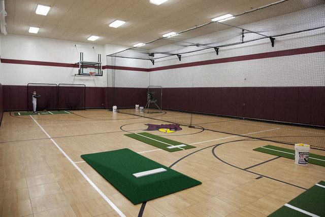 Indoor play spaces traditional home gym other by for Indoor sport court