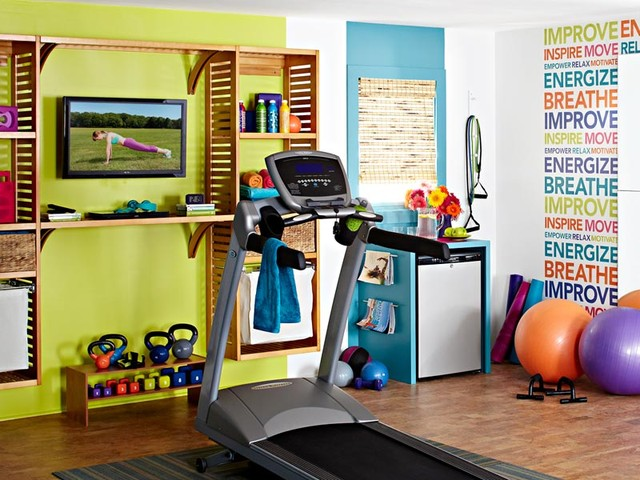 Indoor spaces eclectic home gym other metro by