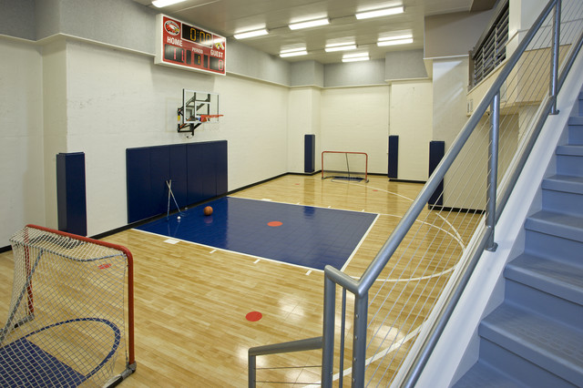 Indoor Sport Court contemporary-home-gym