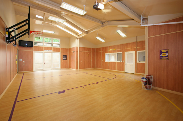 Indoor sports contemporary home gym other metro by for Design indoor basketball court