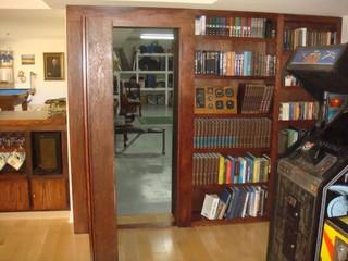 Invisidoor Hidden Door Bookcase Home Gym By Custom