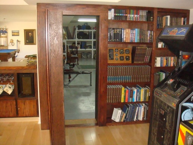 InvisiDoor Hidden Door Bookcase - Home Gym - by Custom Service Hardware, Inc