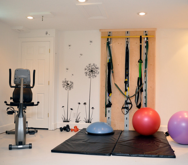 Isawall home workout room single panel installation