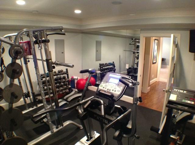 Basement home gym design ideas http houzz photos