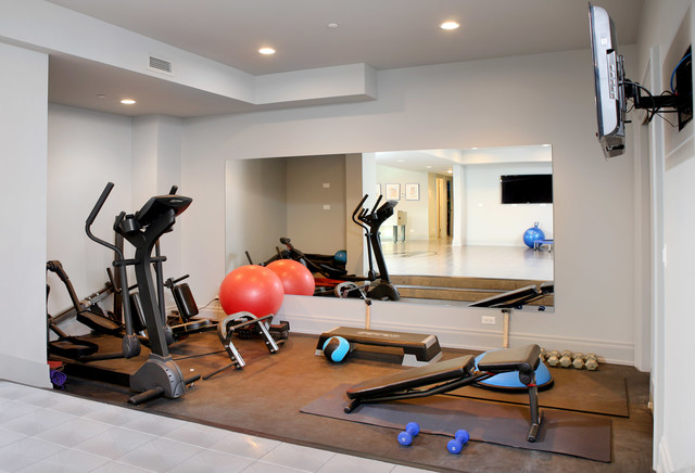 Great Kenwood 10,000 Square Foot Renovation Contemporary Home Gym