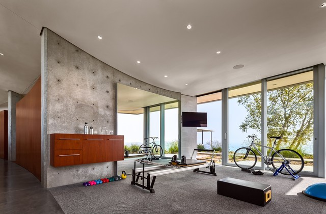 kurth residence modern home gym santa barbara by