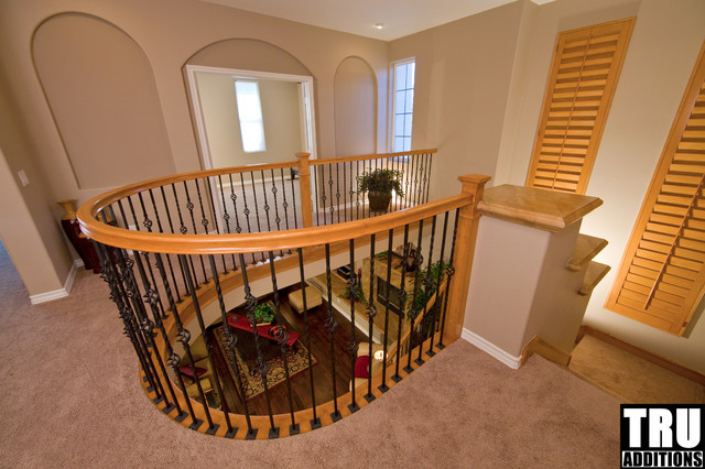 Ladera ranch curved railing loft addition traditional