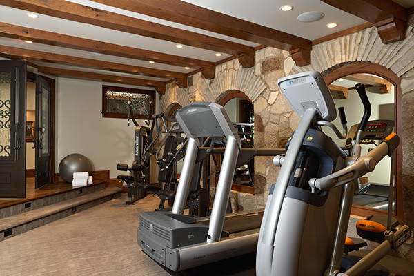 Lake country builders traditional home gym