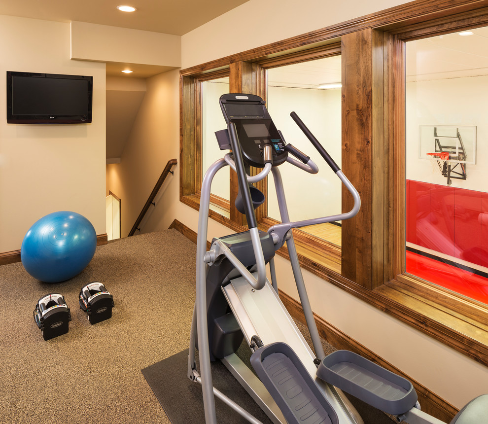 Home Gym Design Ideas: Lake Minnetonka Custom New Build