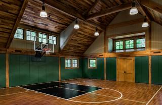 lakeside playhouse  rustic  home gym  boston tms