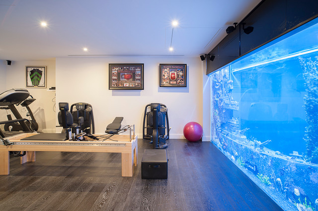 Large Home Gym Contemporary Melbourne By