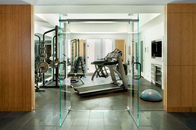 laurel woods gym modern home gym boston by lda architecture
