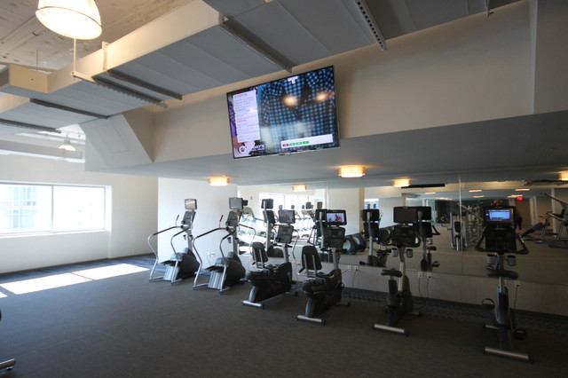 Liberty towers contemporary home gym new york by