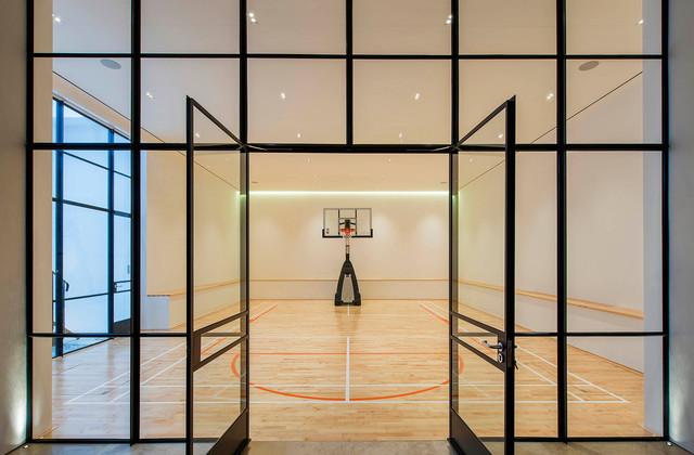 Lighting design holland park transitional home gym london