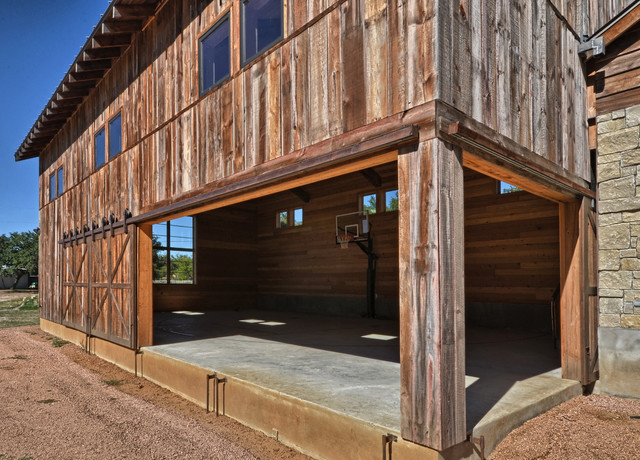 llano ranch - rustic - home gym - austin
