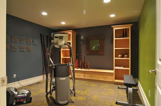 luxury cape home  traditional  home gym  new york