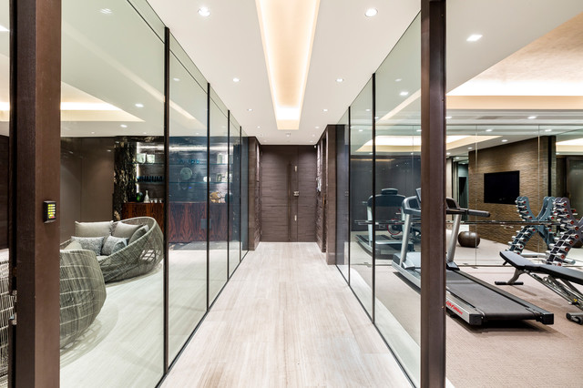 Luxury house hampstead modern home gym london by