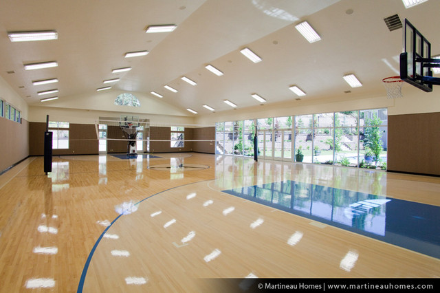 Meadow breeze traditional home gym salt lake city for Indoor basketball court design