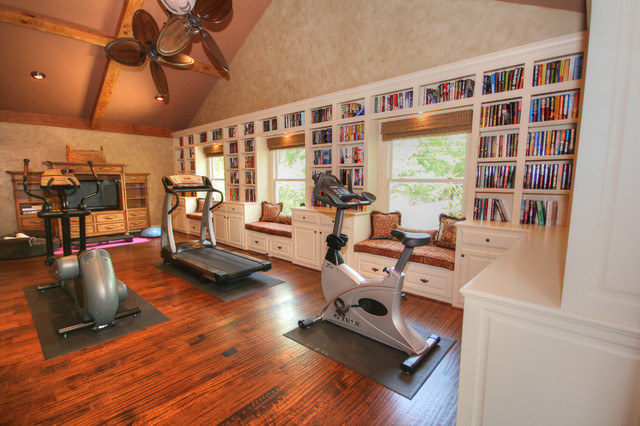 Media room traditional home gym dallas by melinda