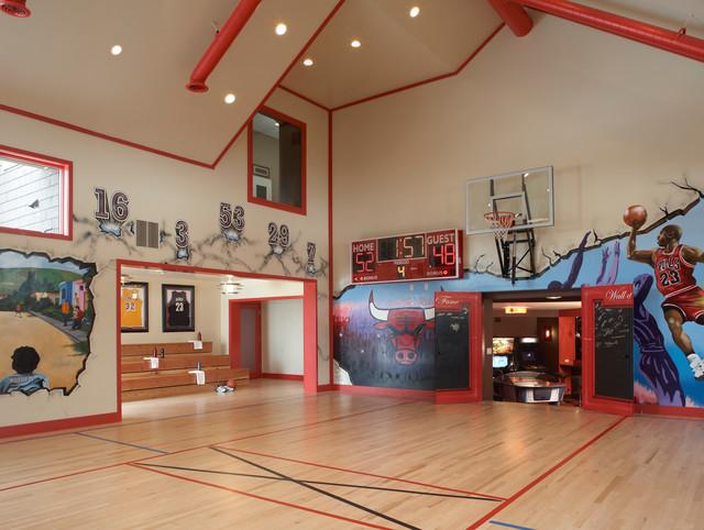 Medina Mn Exercise Room Indoor Basketball Court Minneapolis By Ma Peterson Designbuild Inc