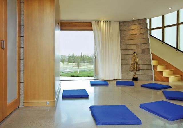 Meditation Pavilion Contemporary Home Gym Denver