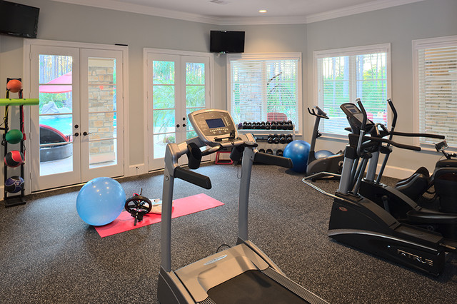Millers lane traditional home gym houston by