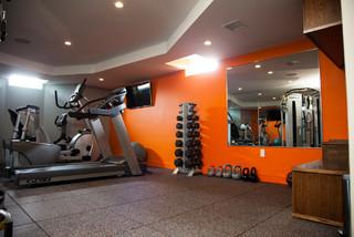 Milton Basement Fit Out Modern Home Gym Boston By