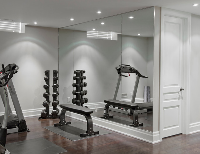 Mirrors contemporary home gym toronto by jj
