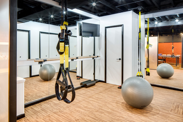 Modern Dublin Basement Industrial Home Gym Columbus