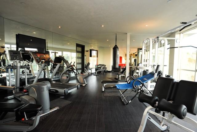Modern Home Gym Moderne Salle De Sport Los Angeles