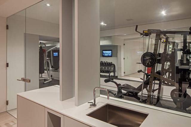 Modern home in oakville ontario gym