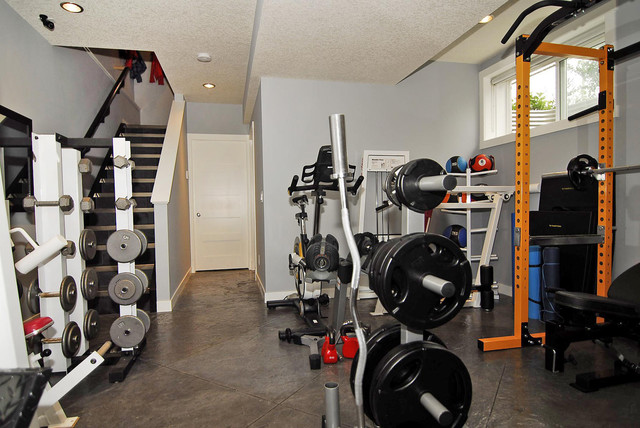 Modern Infill - Our second project contemporary home gym