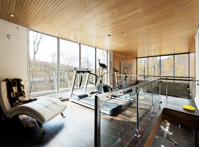 Modular home in the laurentians ime habitat contemporary