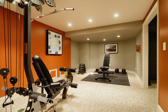 Montgomery Road Basement contemporary-home-gym
