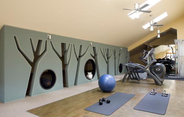 home gym interior design. Interior Designers  Decorators Mountain Retreat rustic home gym