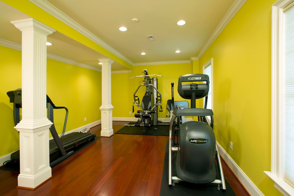 Movie Theatre Highlights Full Basement Remodel Modern Home Gym Dc Metro By Michael Nash Design Build Homes