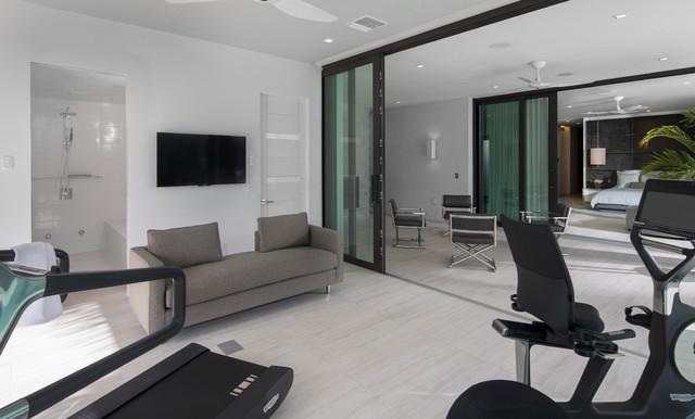nahb the new american home 2017 - contemporary home gym