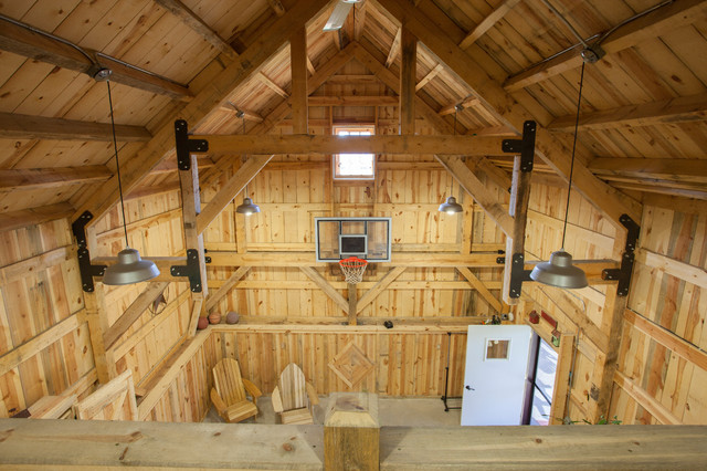 Nebraska Party Barn Traditional Home Gym Other Metro