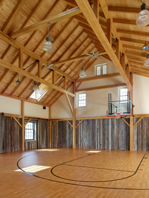 New Barn Farmhouse Home Gym Philadelphia By